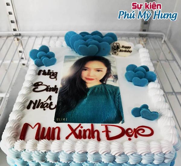 Bánh sinh nhật in hình gái xinh