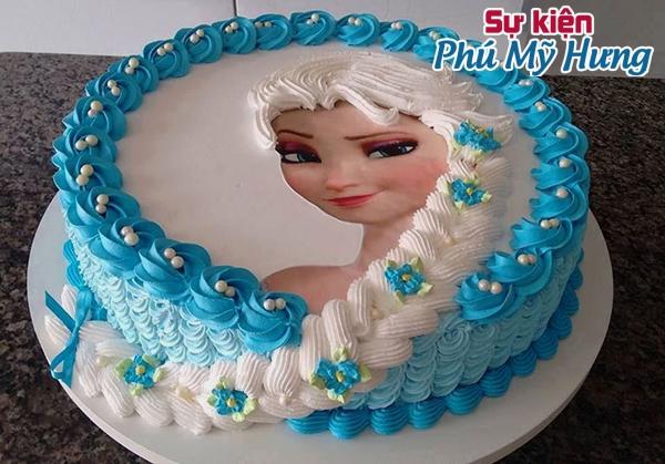 Bánh sinh nhật in hình công chúa Elsa