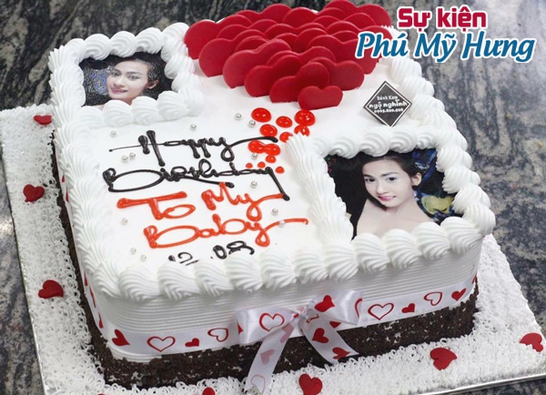 Bánh sinh nhật in hình dáng vuông