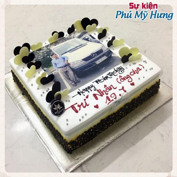 Bánh sinh nhật in hình ô tô