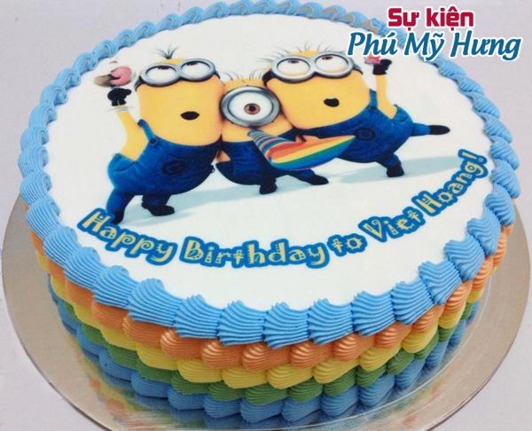 Mẫu bánh sinh nhật in hình ngộ nghĩnh cho bé