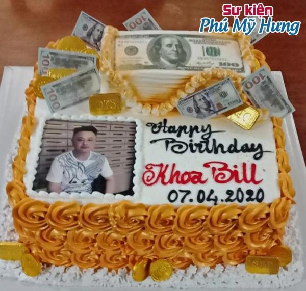 Bánh sinh nhật in hình đồng tiền
